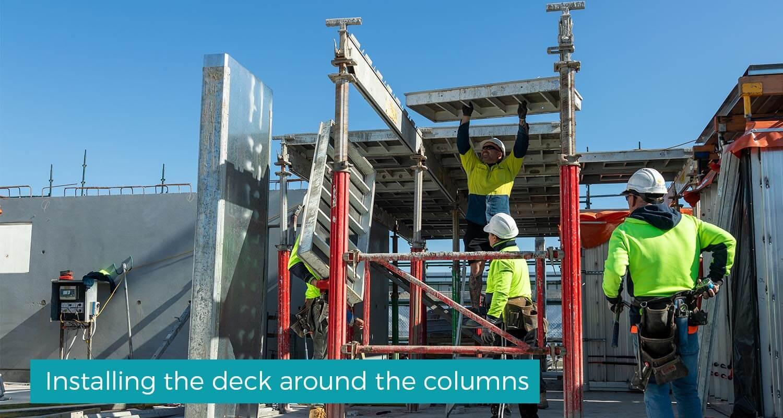 Installing_the_deck_around_the_columns
